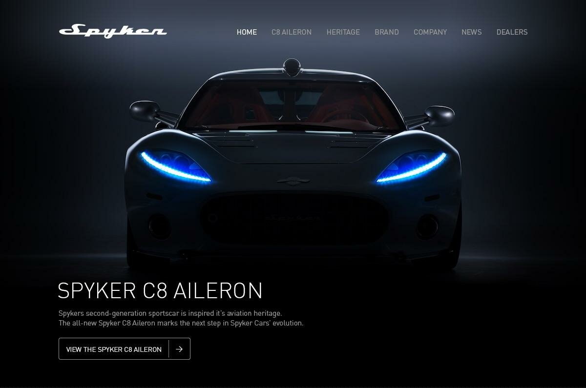 new website for spyker cars | spykercars